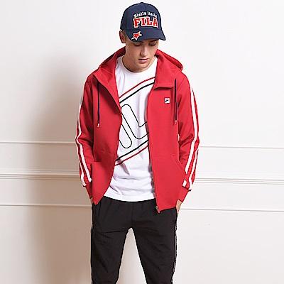 FILA 男款連帽外套-紅 1JKS-5408-RD