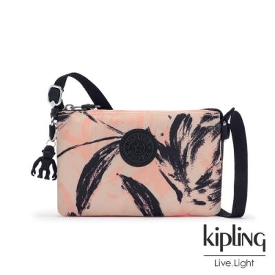 Kipling 珊瑚花潑墨三夾層配件包-CREATIVITY XB