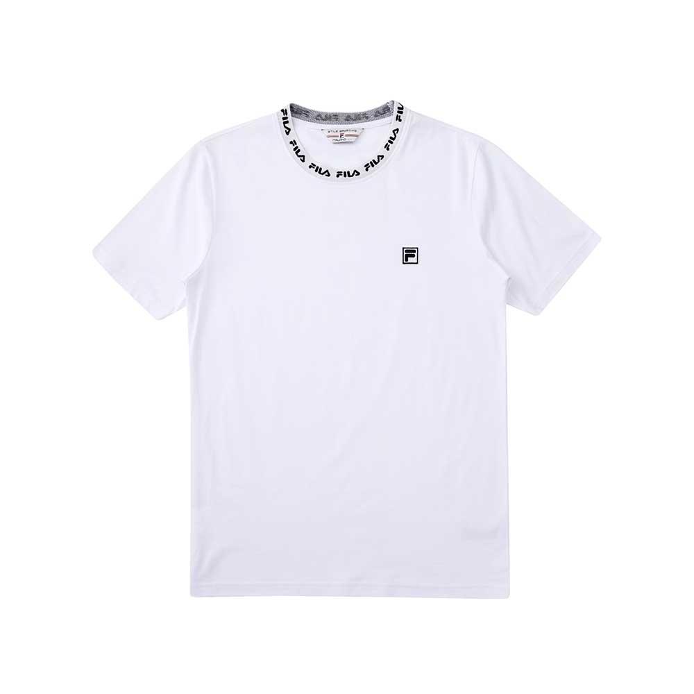 FILA  #尬頑街潮 短袖圓領T恤-白色 1TEU-5402-WT