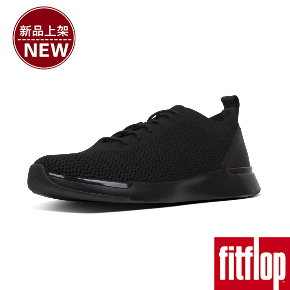 FitFlop FLEXKNIT LACE-UP SNEAKERS-靚黑