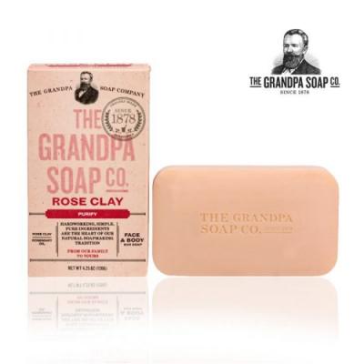 Grandpa 神奇爺爺 玫瑰火山泥專業面膜皂 4.25 oz
