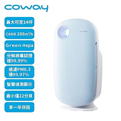 [時時樂限定] Coway 10-14坪 加護抗敏型空氣清淨機 AP-1009CHB 藍色
