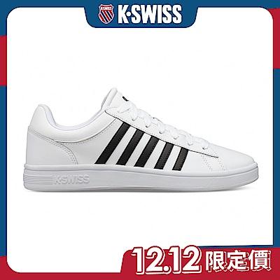 K-SWISS Court Winston時尚運動鞋-男-白/黑