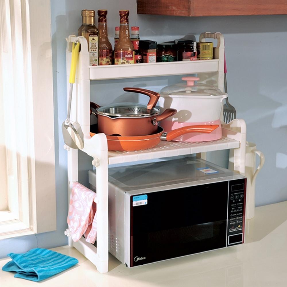 LIFECODE 優廚三層微波爐置物架/廚房收納架