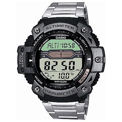 CASIO 登峰測高抗溫數位不鏽鋼休閒錶(SGW-300HD-1A)-50mm