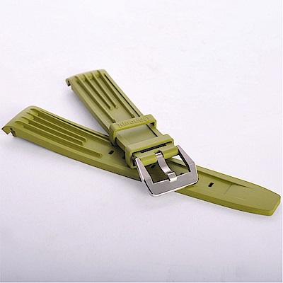 TED SU 太和錶帶 蒼龍ROLEX勞力士代用帶綠色潛水錶帶-20*18mm