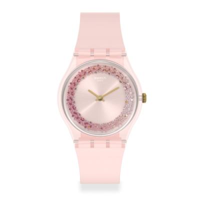 Swatch 菁華系列手錶 KWARTZY 粉彩紅-34mm