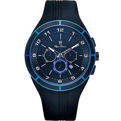 Olym Pianus 奧柏表 藍色風暴三眼計時運動腕錶 890-12GB