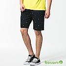 bossini男裝-休閒印花短褲03海軍藍