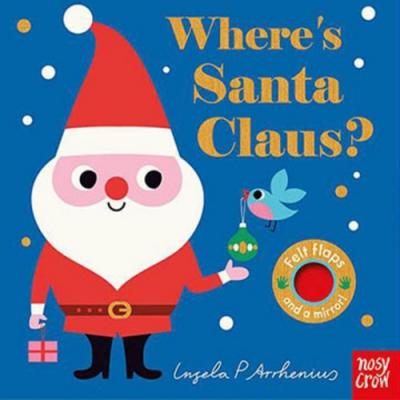 Where s Santa Claus? 聖誕老公公在哪裡?不織布翻翻書