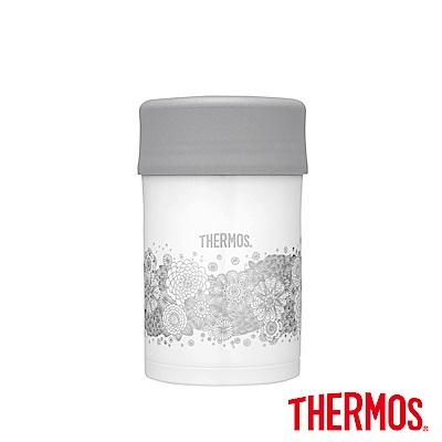 THERMOS膳魔師不鏽鋼真空食物燜燒罐0.5L典雅蕾絲