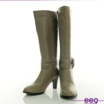 ee9 慾望城市~經典鑽飾皮帶超顯瘦長筒靴~秀氣可可
