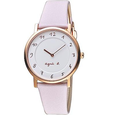 agnes b. 30週年紀念限定手錶(VJ20-KCW0P)-粉紫