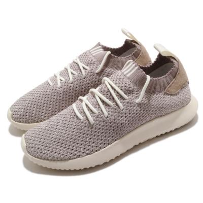 adidas 休閒鞋 Tubular Shadow 襪套式 女鞋 海外限定 愛迪達 三葉草 路跑 緩震 棕 米 B22444