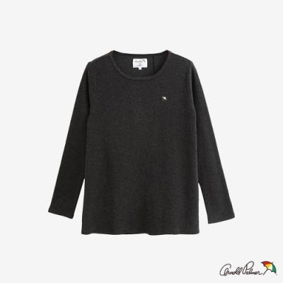 Arnold Palmer -女裝-後開岔異材質拼接T恤-灰