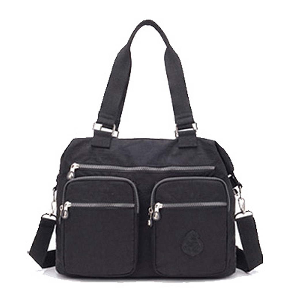 【KISSDIAMOND】防潑水超大容量手提媽媽包-6615(手提/肩背/大容量/黑色)