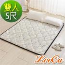 LooCa 3D超透氣雲端支撐小花款日式床墊(雙人)