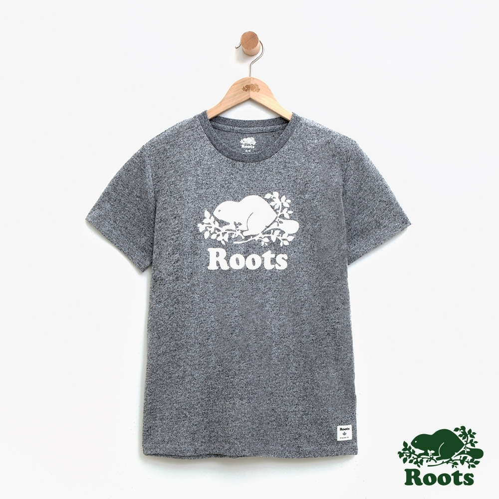 女裝Roots- 基本款庫柏海狸短袖T恤-灰色