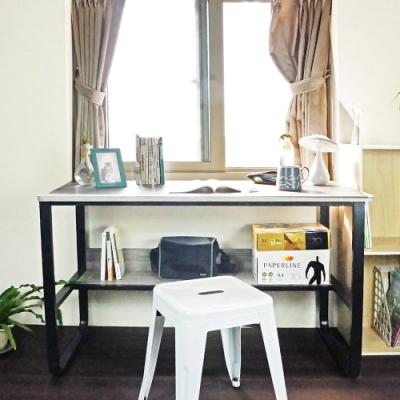 【樂活家】鑫克錸鋼木多用收納工作桌電腦桌辦公桌(120cm)