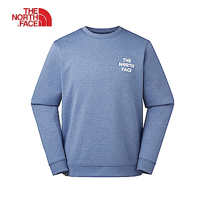 The North Face北面男款藍色彈力針織長袖上衣|46F4HKW