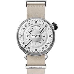 BOMBERG 炸彈錶 BB-01 石英手錶-銀白/43mm