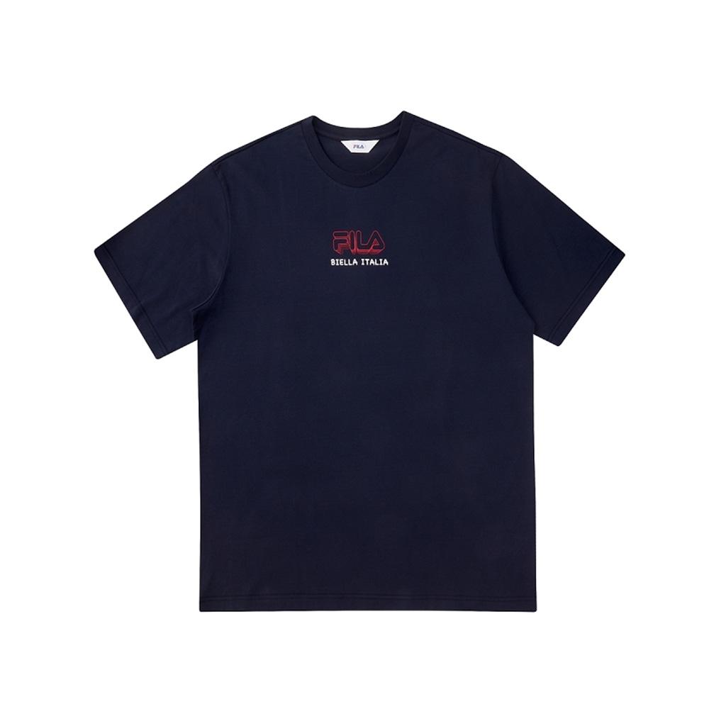 FILA 短袖圓領上衣-丈青 1TEV-1503-NV