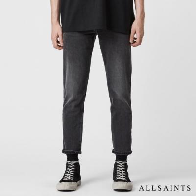 ALLSAINTS DEAN 經典洗鍊刷色彈力修身中腰棉質牛仔褲-水洗黑