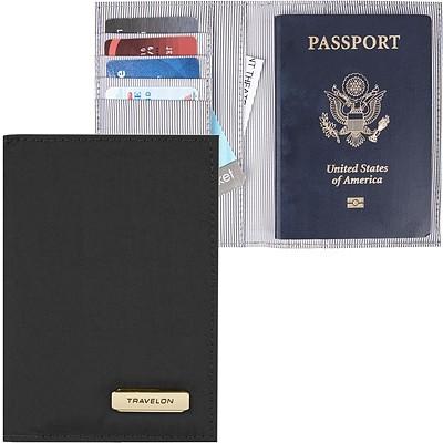 《TRAVELON》兩折式護照夾(黑)