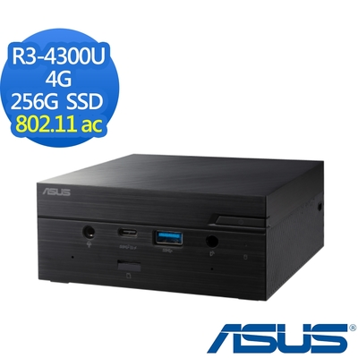 ASUS PN50-43UY2TA 迷你桌上型電腦 R3-4300U四核心/4G/256G SSD/Win10