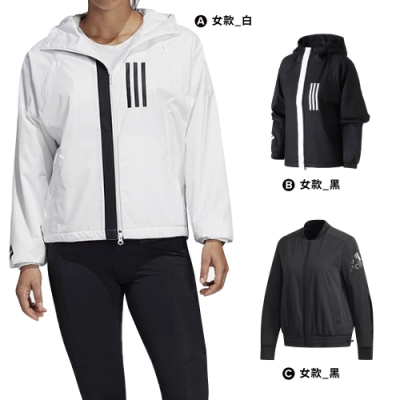 【時時樂限定】ADIDAS 女  風衣外套 (三款任選)