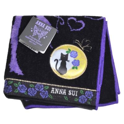 ANNA SUI  X 美少女戰士Eternal LOGO圖騰小方巾(黑底/紫)