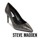 STEVE MADDEN-LILLIE 奢華素面尖頭高跟鞋-鐵色