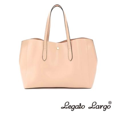 Legato Largo 驚異的輕量化 小法式輕便簡約 流線型剪裁手提袋 櫻花粉