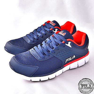 FILA男款輕量路跑鞋款~藍1-J302S-312