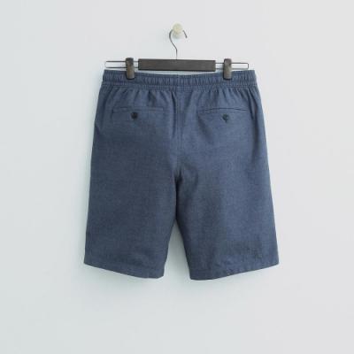Hang Ten - 男裝 - 鬆緊休閒西裝短褲-藍