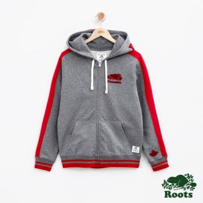 女裝Roots加拿大系列-海狸連帽外套-灰色