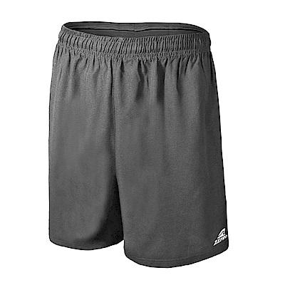【ZEPRO】男子反光條排汗運動短褲-鐵灰
