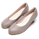 DIANA素雅蜥蜴壓紋質感真皮跟鞋-漫步雲端輕盈美人款-可可 product thumbnail 1