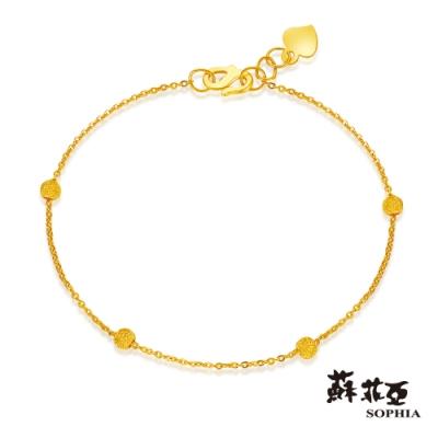 蘇菲亞SOPHIA - G LOVER系列流砂四珠版黃金手鍊