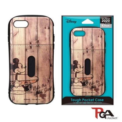 iPhone SE2/8/7/6S/6 4.7吋 迪士尼 軍規 皮革插卡 雙料殼-米奇
