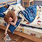 戀家小舖 / 單人床包枕套組  迷路的床邊故事-兩色可選  100%精梳棉  台灣製