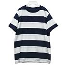 Ralph Lauren 童裝經典小馬條紋短袖t恤-白/藍(7歲)