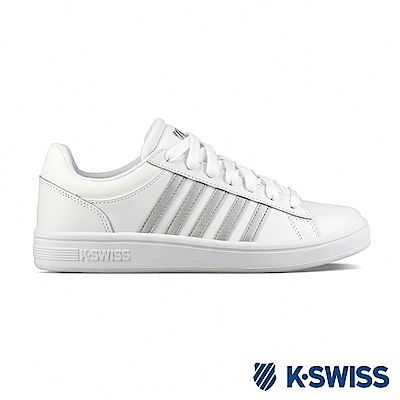 K-SWISS Court Winston時尚運動鞋-女-白/銀