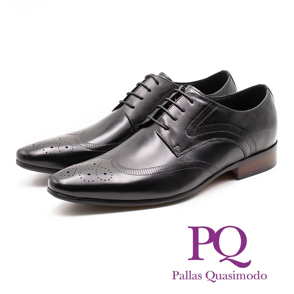 PQ 簍空雕花質感紳士德比鞋 男鞋 - 黑