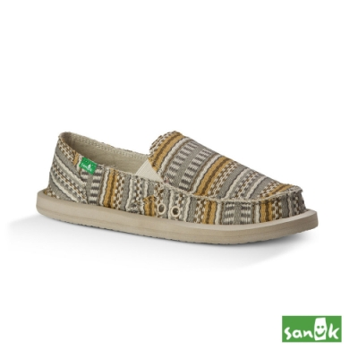 SANUK 女款 US5 民俗編織紋懶人鞋(自然色)