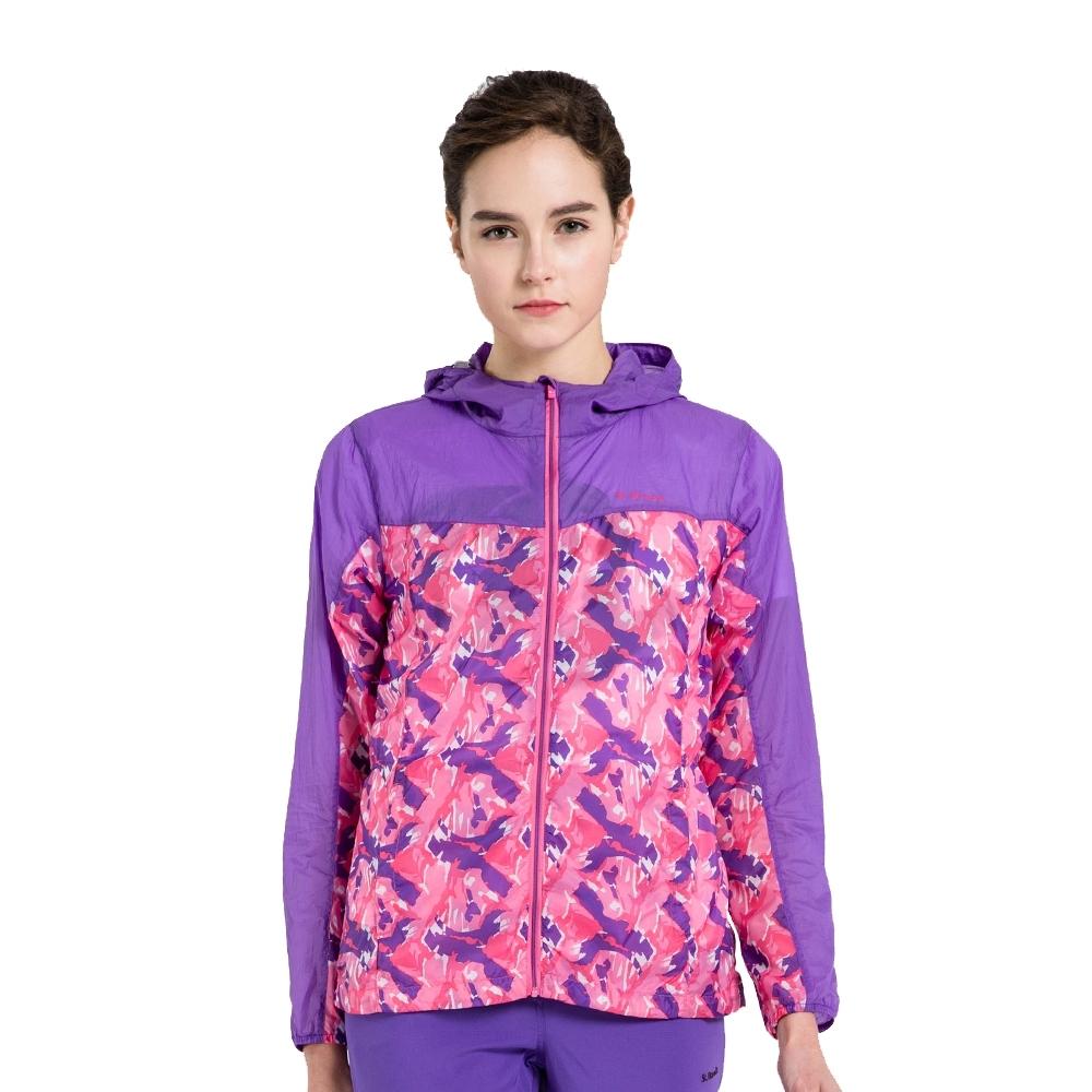 【St. Bonalt 聖伯納】女款迷彩超輕透防曬外套 (7014-紫色/粉紅迷彩) 抗UV 防曬 防風 防潑水 輕薄 透氣