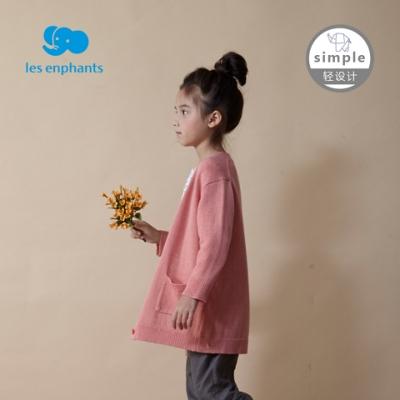 simple by lesenphants親子裝線衫外套(小童款)-粉桔