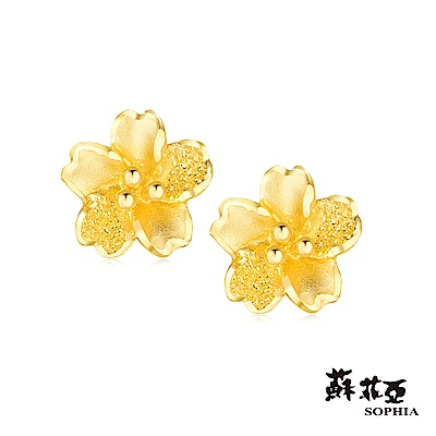 蘇菲亞SOPHIA - G LOVER系列櫻之戀黃金耳環