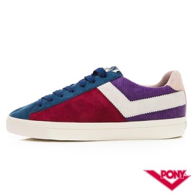 【PONY】Top Star系列獨特色彩拼接百搭休閒鞋 板鞋 滑板鞋 酒紅紫