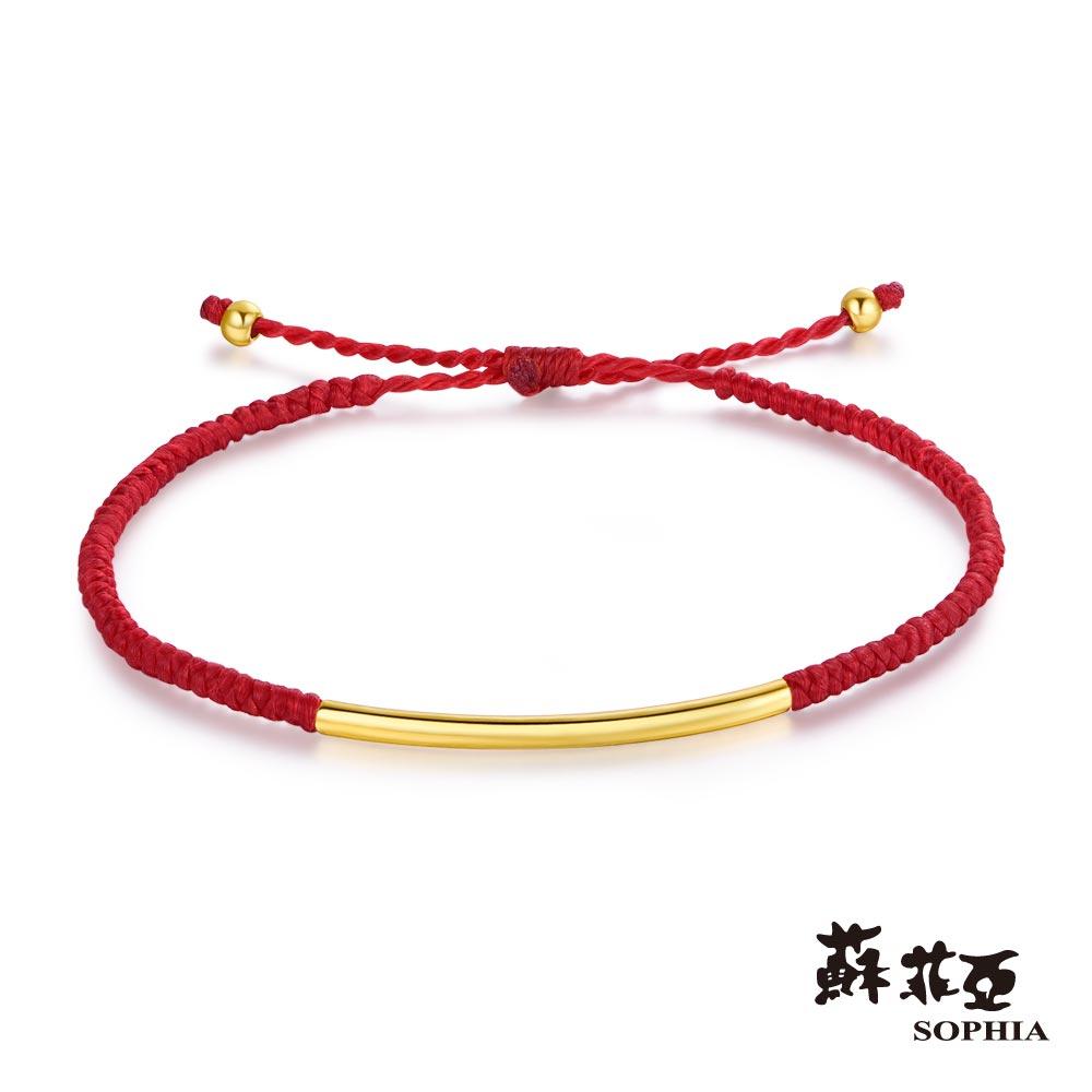蘇菲亞SOPHIA - G LOVER系列簡單愛黃金紅手環
